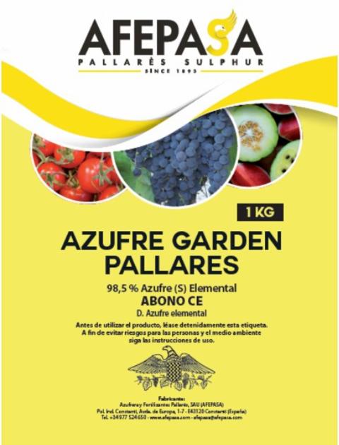 AZUFRE GARDEN PALLARES AFEPASA  1 KG