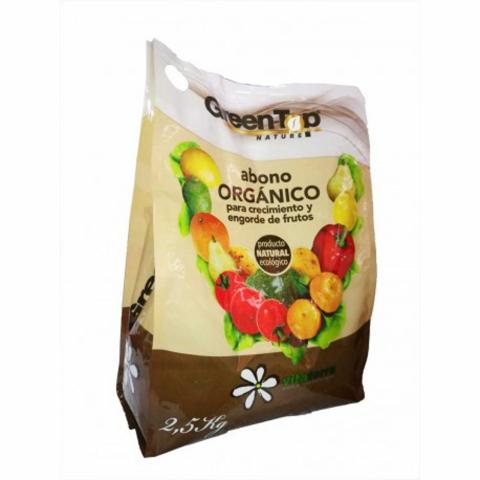 ABONO GREEN TOP ORGANICO 2,5 KG.