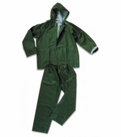 IMPERMEABLE VERDE COMPLETO