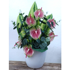 Flores artificiales ramo Anthurium bicolor