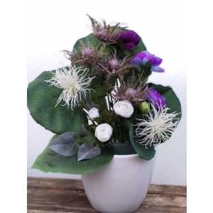 Flores artificiales ramo cardo spider