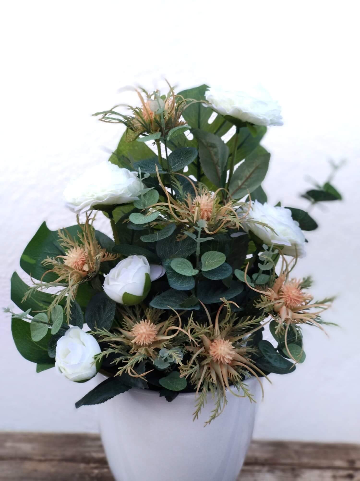 Flores artificiales Ramo cardo de Mar