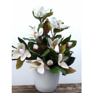 Flores artificiales ramo Magnolia