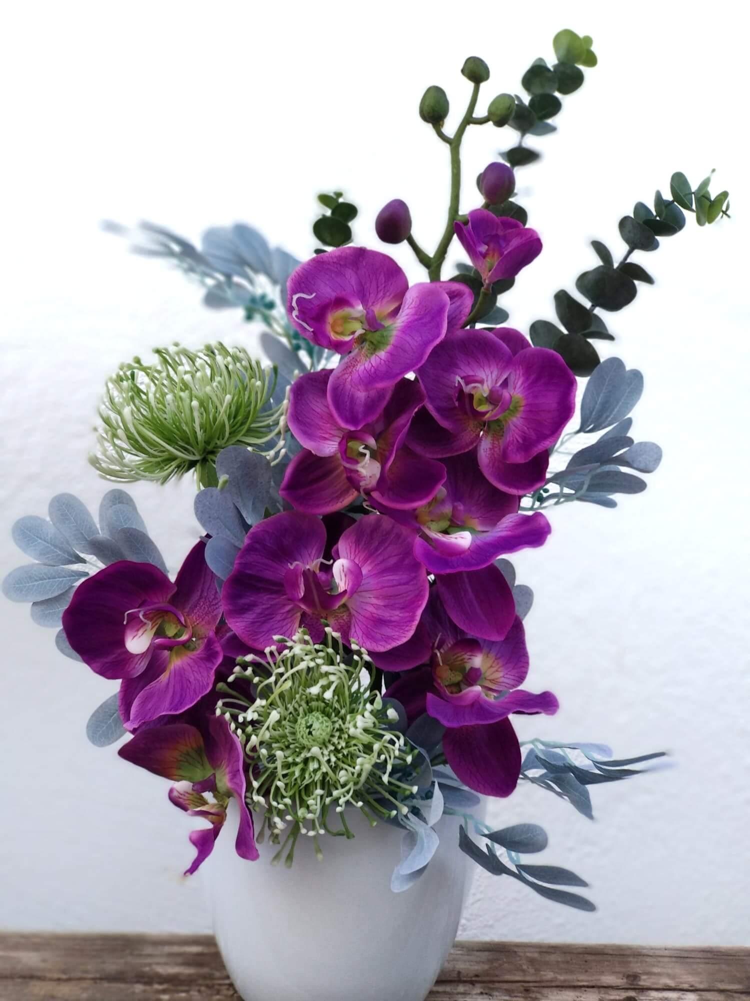 Ramo Phalaenopsis Burdeos flores artificiales