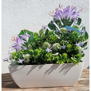 flores artificiales jardinera azafran