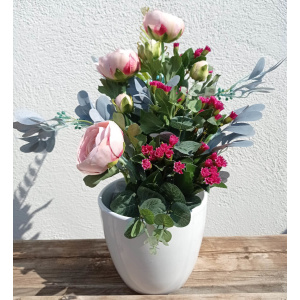 flores artificiales ramo francesilla y nomeolvides