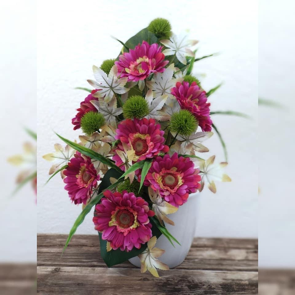 ramo gerberas flores artificiales