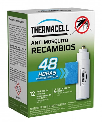 Recambios Thermacell anti mosquitos 48 horas